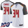 Cheap Nike Buccaneers #34 Mike Edwards White Men's Stitched NFL 100th Season Vapor Untouchable Limited Jersey
