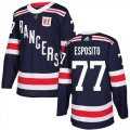 Cheap Adidas Rangers #77 Phil Esposito Navy Blue Authentic 2018 Winter Classic Stitched NHL Jersey