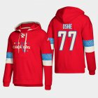 Cheap Washington Capitals #77 T.J. Oshie Red adidas Lace-Up Pullover Hoodie