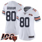 Cheap Nike Bears #80 Jimmy Graham White Alternate Women's Stitched NFL Vapor Untouchable Limited 100th Season Jersey
