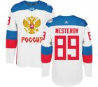 Cheap Team Russia #89 Nikita Nesterov White 2016 World Cup Stitched NHL Jersey