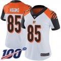 Cheap Nike Bengals #85 Tee Higgins White Women's Stitched NFL 100th Season Vapor Untouchable Limited Jersey