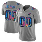 Cheap Philadelphia Eagles Custom Men's Nike Multi-Color 2020 NFL Crucial Catch Vapor Untouchable Limited Jersey Greyheather