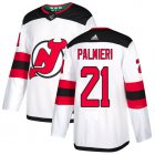 Cheap Adidas Devils #21 Kyle Palmieri White Road Authentic Stitched Youth NHL Jersey