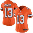 Cheap Nike Broncos #13 KJ Hamler Orange Women's Stitched NFL Limited Rush Jersey