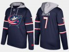 Cheap Blue Jackets #7 Jack Johnson Navy Name And Number Hoodie