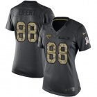 Cheap Nike Jaguars #88 Tyler Eifert Black Women's Stitched NFL Limited 2016 Salute to Service Jersey