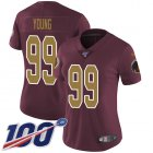 Cheap Nike Redskins #99 Chase Young Burgundy Red Alternate Women's Stitched NFL 100th Season Vapor Untouchable Limited Jersey