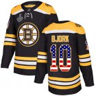 Cheap Adidas Bruins #10 Anders Bjork Black Home Authentic USA Flag Stanley Cup Final Bound Youth Stitched NHL Jersey