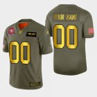 Cheap Nike 49ers Custom Men's Olive Gold 2019 Salute to Service NFL 100 Limited Jersey