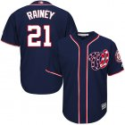 Cheap Nationals #21 Tanner Rainey Navy Blue New Cool Base Stitched MLB Jersey