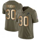 Cheap Nike Lions #30 Jeff Okudah Olive/Gold Youth Stitched NFL Limited 2017 Salute To Service Jersey