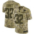 Cheap Nike Lions #32 D'Andre Swift Camo Men's Stitched NFL Limited 2018 Salute To Service Jersey