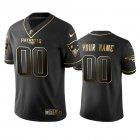 Cheap Nike Patriots Custom Black Golden Limited Edition Stitched NFL Jersey