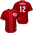 Cheap Reds #12 Curt Casali Red New Cool Base Stitched MLB Jersey