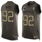 Cheap Nike Panthers #92 Zach Kerr Green Men's Stitched NFL Limited Salute To Service Tank Top Jersey