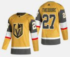 Cheap Men's Vegas Golden Knights #27 Shea Theodore Gold 2020-21 Alternate Stitched Adidas Jersey