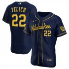 Cheap Milwaukee Brewers Christian Yelich Men's Nike Navy Alternate 2020 Authentic Player MLB Jersey