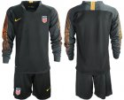 Cheap USA Blank Black Goalkeeper Long Sleeves Soccer Country Jersey