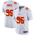 Cheap Kansas City Chiefs #95 Chris Jones White Men's Nike Team Logo Dual Overlap Limited NFL Jersey