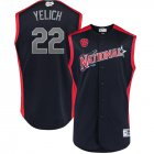 Cheap National League #22 Christian Yelich Majestic 2019 MLB All-Star Game Workout Player Jersey Navy