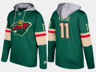 Cheap Wild #11 Zach Parise Green Name And Number Hoodie