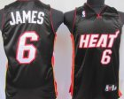 Cheap Miami Heat #6 LeBron James Black Kids Jersey