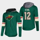 Cheap Wild #12 Eric Staal Green 2018 Pullover Platinum Hoodie