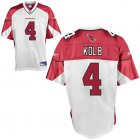 Cheap Cardinals #4 Kevin Kolb White Stitched NFL Jersey
