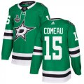 Cheap Adidas Stars #15 Blake Comeau Green Home Authentic 2020 Stanley Cup Final Stitched NHL Jersey