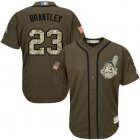 Cheap Indians #23 Michael Brantley Green Salute to Service Stitched Youth MLB Jersey