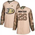 Cheap Adidas Ducks #26 Brandon Montour Camo Authentic 2017 Veterans Day Youth Stitched NHL Jersey