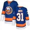 Cheap Adidas Islanders #31 Billy Smith Royal Blue Home Authentic Stitched NHL Jersey