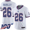Cheap Nike Giants #26 Saquon Barkley White Men's Stitched NFL Limited Rush 100th Season Jersey