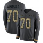 Cheap Nike Titans #70 Ty Sambrailo Anthracite Salute to Service Youth Stitched NFL Limited Therma Long Sleeve Jersey