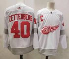 Cheap Men's Detroit Red Wings #40 Henrik Zetterberg White Adidas 2020-21 Alternate Authentic Player NHL Jersey