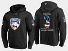 Cheap Panthers #3 Keith Yandle NHL Banner Wave Usa Flag Black Hoodie