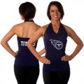 Cheap Women's All Sports Couture Tennessee Titans Blown Coverage Halter Top