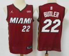 Cheap Men's Miami Heat #22 Jimmy Butler Red 2020 Brand Jordan Swingman Stitched NBA Jersey With The NEW Sponsor Logo