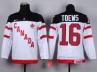 Cheap Team Canada #16 Jonathan Toews White 100th Anniversary Stitched Youth NHL Jersey