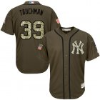 Cheap Yankees #39 Mike Tauchman Green Salute to Service Stitched Youth MLB Jersey