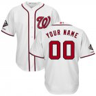 Cheap Washington Nationals Majestic 2019 World Series Champions Home Official Cool Base Custom Jersey White
