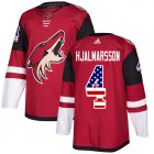 Cheap Adidas Coyotes #4 Niklas Hjalmarsson Maroon Home Authentic USA Flag Stitched Youth NHL Jersey