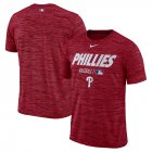 Cheap Philadelphia Phillies Nike Authentic Collection Velocity Team Issue Performance T-Shirt Red