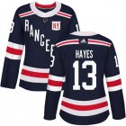 Cheap Adidas Rangers #13 Kevin Hayes Navy Blue Authentic 2018 Winter Classic Women's Stitched NHL Jersey