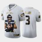 Cheap Seattle Seahawks #3 Russell Wilson Nike Team Hero Vapor Limited NFL 100 Jersey White Golden