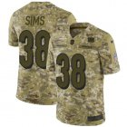 Cheap Nike Bengals #38 LeShaun Sims Camo Youth Stitched NFL Limited 2018 Salute To Service Jersey