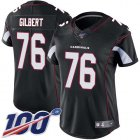 Cheap Nike Cardinals #76 Marcus Gilbert Black Alternate Women's Stitched NFL 100th Season Vapor Untouchable Limited Jersey