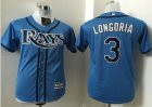 Cheap Rays #3 Evan Longoria Light Blue Stitched Youth Baseball Jersey