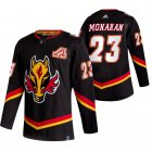 Cheap Calgary Flames #23 Sean Monahan Black Men's Adidas 2020-21 Reverse Retro Alternate NHL Jersey